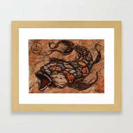 Koi Series, Elementals-Earth Framed Art Print
