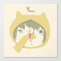 selfie Canvas Prints featuring selfie by yohan sacre
