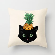 Pineapple Kitty Throw Pillow