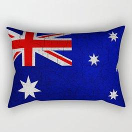 Cracked Australia flag Rectangular Pillow
