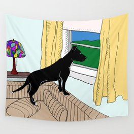 Pitbull Lookout Wall Tapestry
