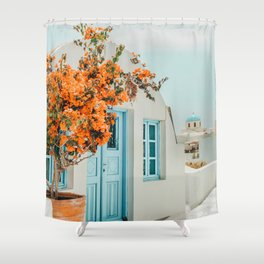 Greece Airbnb #photography #greece #travel Shower Curtain