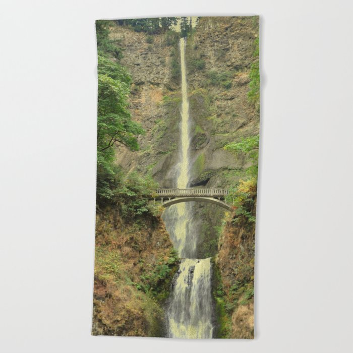MULTNOMAH FALLS - OREGON Beach Towel