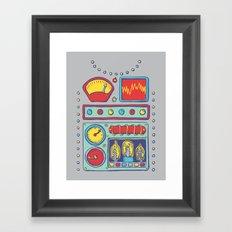 Retrobot Framed Art Print
