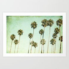Palm Trees (California Dreaming III) Art Print