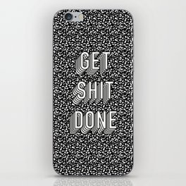 Get Shit Done Memphis Static iPhone Skin