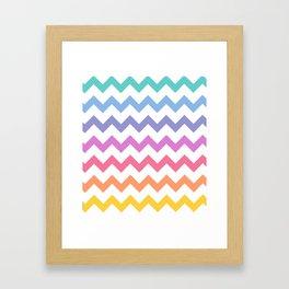 Rainbow Chevron Framed Art Print