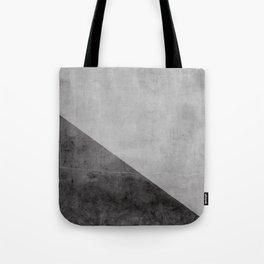 Concrete with black triangle Tote Bag