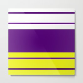 TEAM COLORS 9...Purple, yellow Metal Print