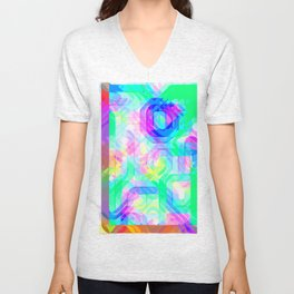 Re-Created Laurels V by Robert S. Lee Unisex V-Neck