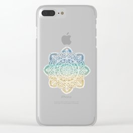 Beach Mandala Clear iPhone Case