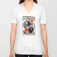 propaganda V-neck T-shirts featuring Propaganda by Shop 5