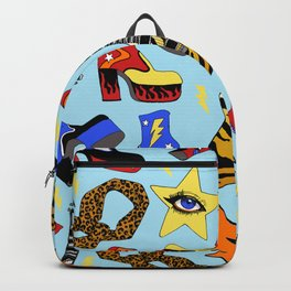 Glam Rock Starter Pack Print Backpack