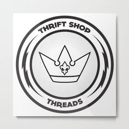 Thrift Shop Threads Button_Crown Metal Print
