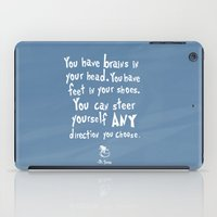 dr seuss iPad Cases featuring dr seuss you have brains in your head by studiomarshallarts