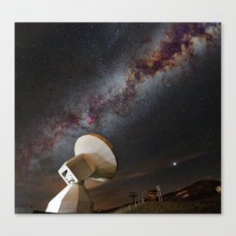 Contact! Search for ExtraTerrestrial Intelligence in the Stars! Canvas Print