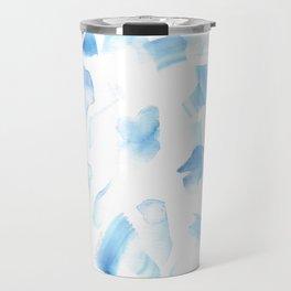 180527 Abstract Watercolour 6| Watercolor Brush Strokes Travel Mug