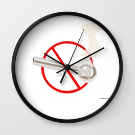 No Smoking...Crack Wall Clock