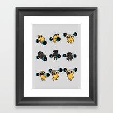 OLYMPIC LIFTING PUGS Framed Art Print