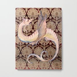 White Dragon - Garden of Beasts Collection Metal Print