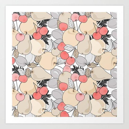 Fruit market . 3 Retro . Art Print