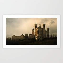 Basilica of Our Lady of Fourvière in Lyon, France Art Print