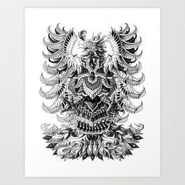 Heraldic Phoenix Art Print