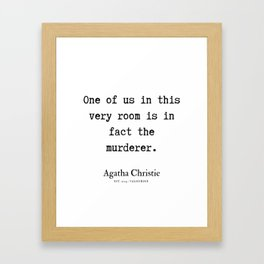 72  | Agatha Christie Quotes | 190821 Framed Art Print