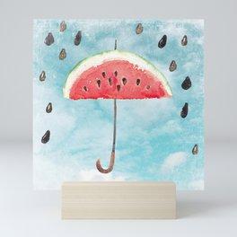 Melon - Fruity Summer Rain Mini Art Print