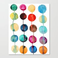 planets Canvas Prints featuring Planets by Mille Dørge