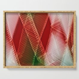 Abstract Holiday Plaid Serving Tray