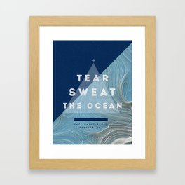 Salt water heals Framed Art Print