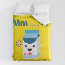 M is for Milk Duvet Cover