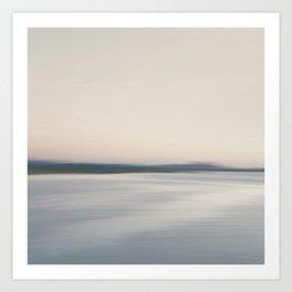 Coast line. Abstract minimal seascape. Art Print