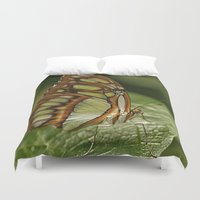 malachite Duvet Covers featuring Malachite Butterfly by Cindi Ressler Photography