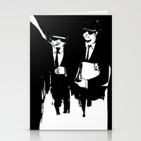 blues brothers Stationery Cards featuring blues brothers by serenita