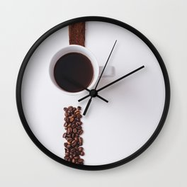 COFFEE - BEANS - CUP - PHOTOGRAPHY Wall Clock