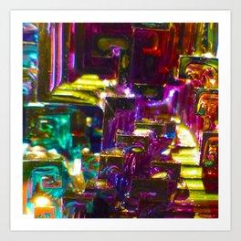 Rainbow Bismuth Art Print