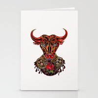 taurus Stationery Cards featuring Taurus  by Felicia Cirstea