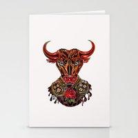 taurus Stationery Cards featuring Taurus  by Felicia Atanasiu