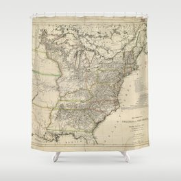 Map of the United States of North America by Christian Gottlieb Reichard (1809) Shower Curtain