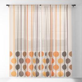 Golden Sixlet Sheer Curtain