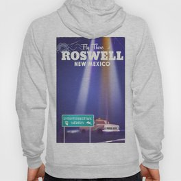 Roswell Extraterrestrial Highway travel poster Hoody