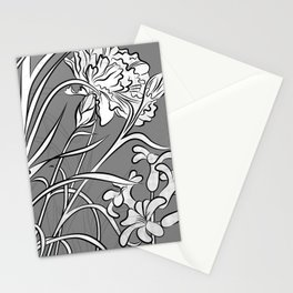 Carnation Creation Black and White Stationery Cards