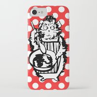 guinea pig iPhone & iPod Cases featuring Guinea Pig Baking Extraordinaire  by Katy Shorttle