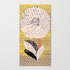 Script Flower Canvas Print