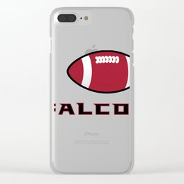 True Falkon American Football Design black lettering Clear iPhone Case