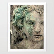 An Angel Cries Art Print
