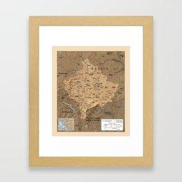 Map Of Kosovo 1999 Framed Art Print