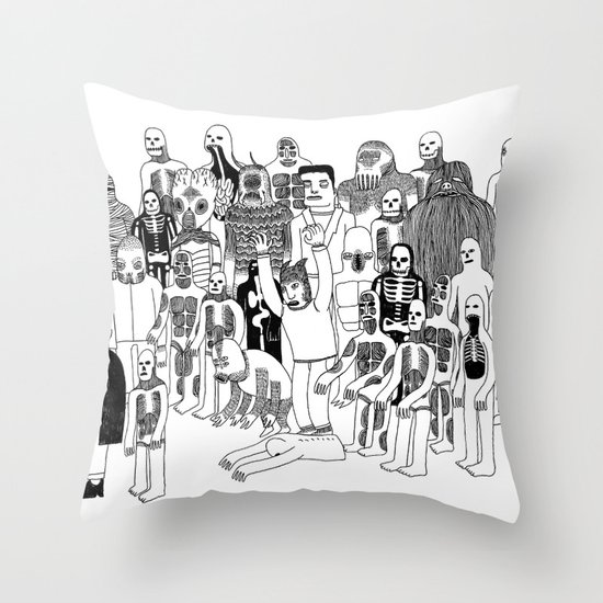 Monster Mash Throw Pillow